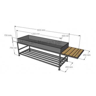 Мангал 120х40 со столиком