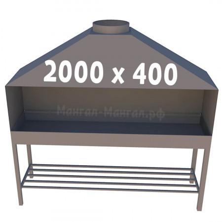 Профессиональный мангал 200х40