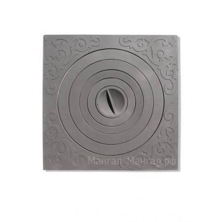 Чугунная плита с кольцами